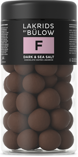 Bilde av F – DARK & SEA SALT CHOCOLATE COATED LIQUORICEM295G