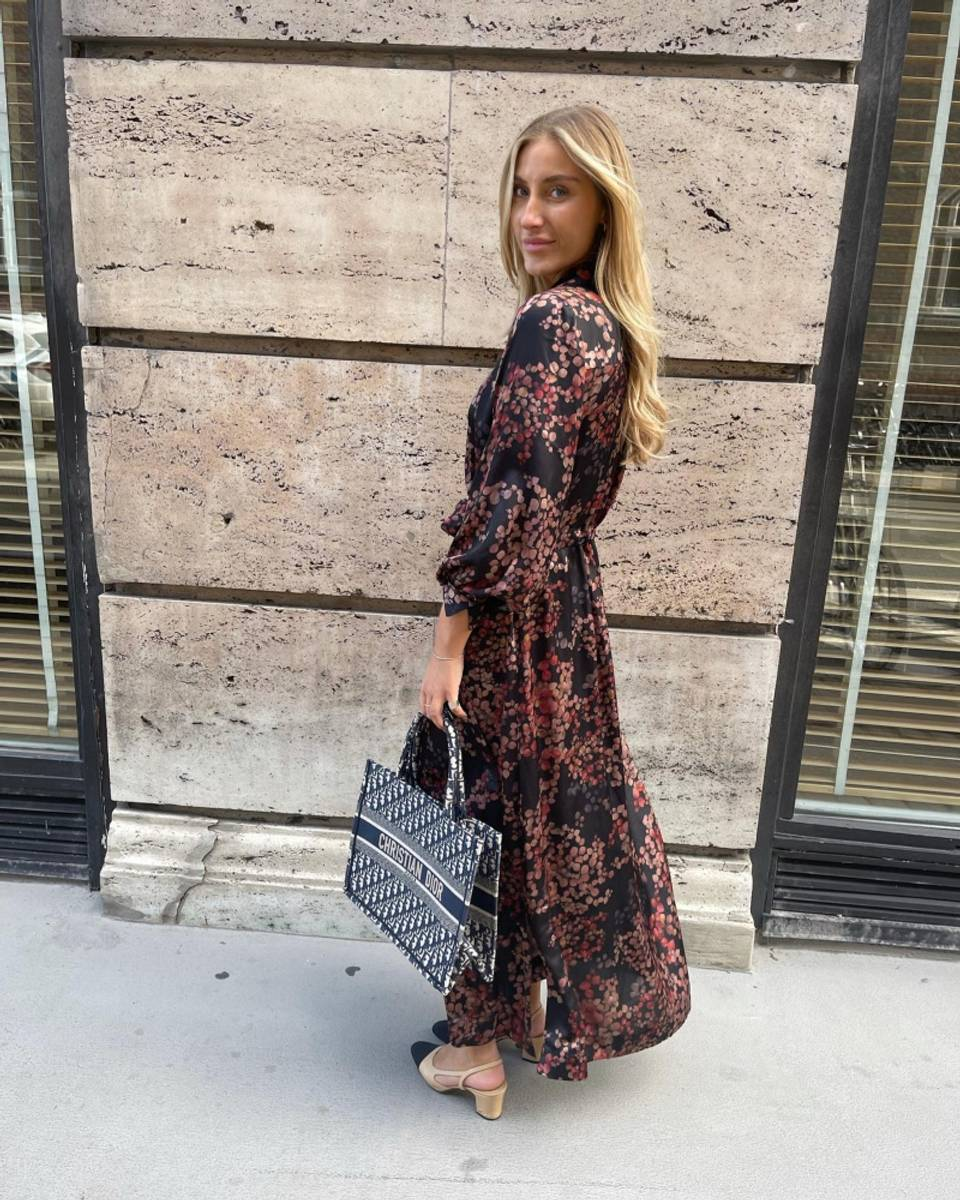 KARMAMIA LUELLA DRESS MELANGE BLACK